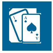 Gaming Icon Blue Blackjack