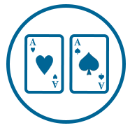Blue Gaming Icon Two Aces