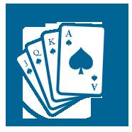 Blue Gaming Icon Flush