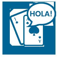 Gaming Icon Blue Spanish