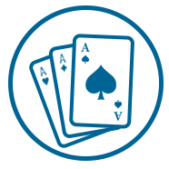 Gaming Icon Blue Three Aces