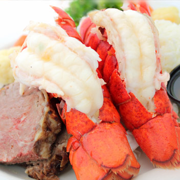 PRIME RIB & LOBSTER TAILS