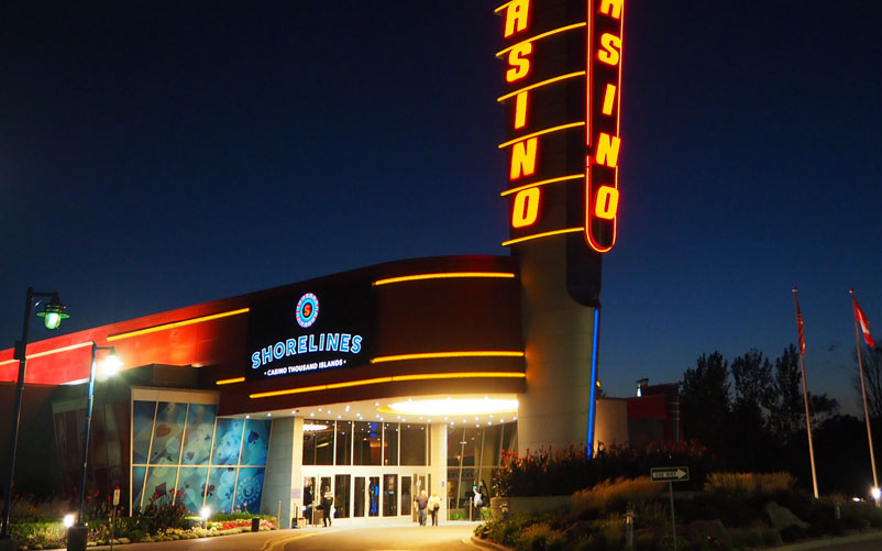Shorelines Casino Thousand Islands exterior